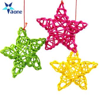 Colorful Christmas Birthday Home Wedding Party Decorations Diy Ornaments 6cm Lovely Rattan Star Ball Kids Toys Buy Rattan Ballrattan Star