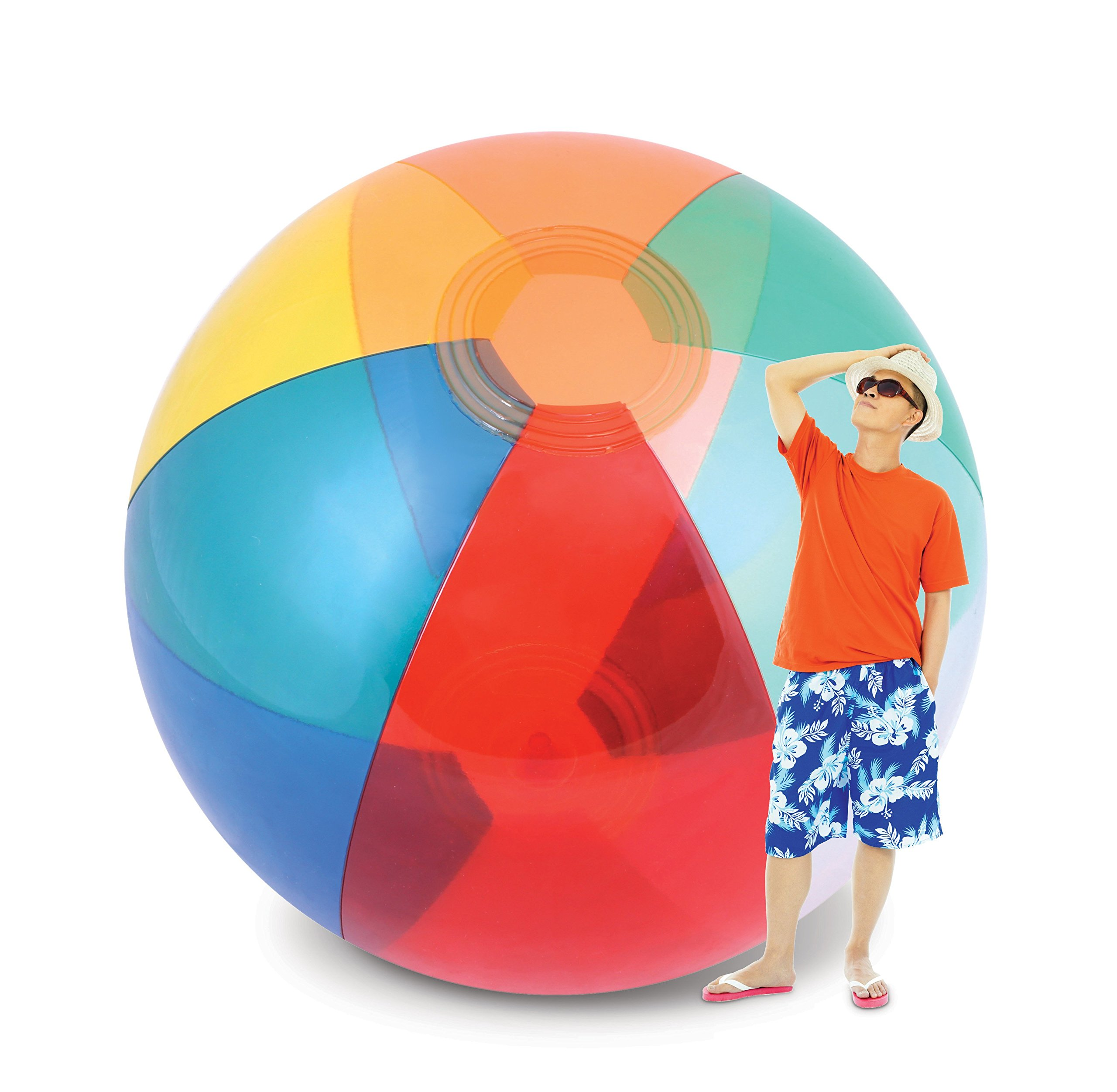 KOVOT Humongous Larger Than Life Transparent Giant Beach Ball: 8-9 Feet Tall Inflated - 12 Feet From Pole to Pole