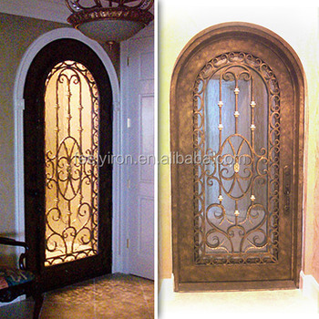 full radius arch top wrought iron single door FS-094 & Full Radius Arch Top Wrought Iron Single Door Fs-094 - Buy Full ...