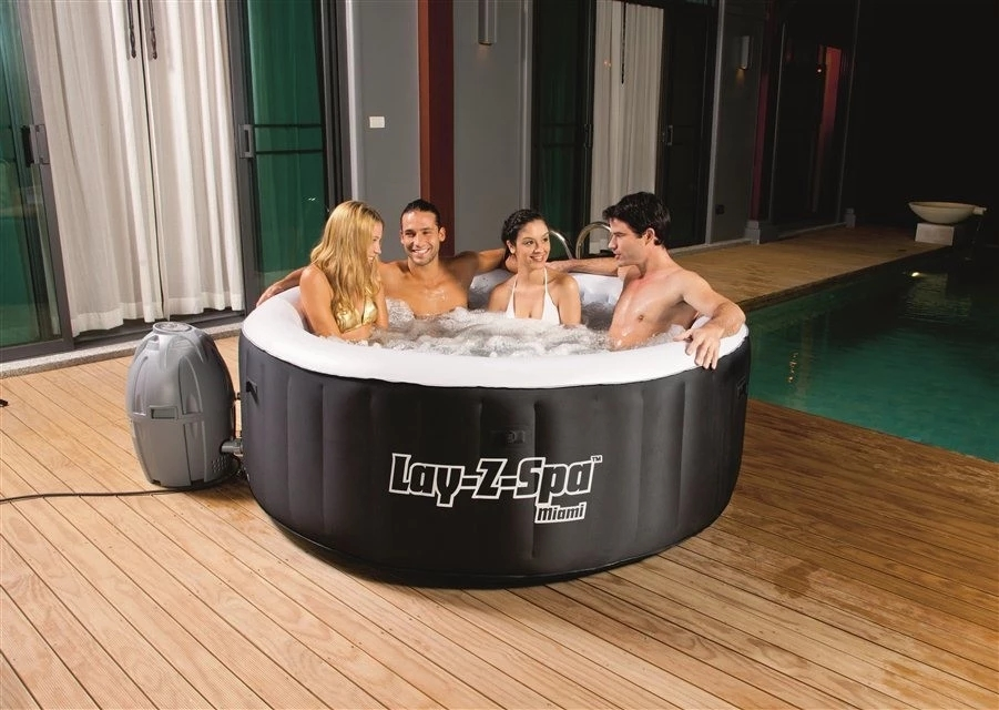 Bestway 54129 portable Lay-z-spa palm springs premium inflatable hot tub spa