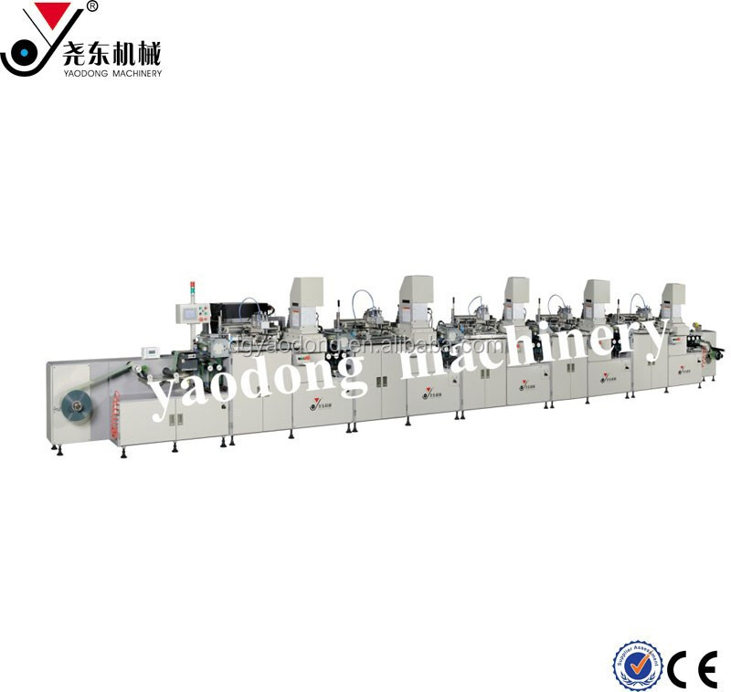 high precision 5 color 5 station roll to roll screen printing machine