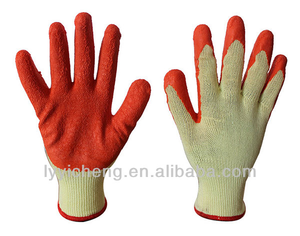 Latex Coated Glove 13G Nylon/Polyester Liner,Natural Latex Palm Coated