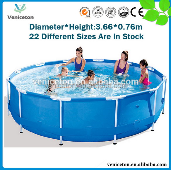 Veniceton stainless steel frame pool pvc swim pool mobile swimming pool