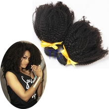 "New 2016 brazilian kinky curly virgin hair 10A best brazilian virgin hair 8""-30"" natural black afro kinky human hair weft"
