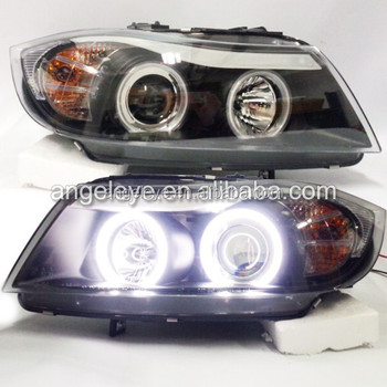 For Bmw E90 318i 320i Ccfl Angel Eyes Head Lamp Front Light 2005