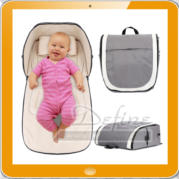 2 in 1 Portable Baby Travel Folding Bassinet Diaper Bag and Carrycot