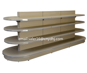 Half Round Head Supermarket Display Shelf Rack Retail Shelving Systems