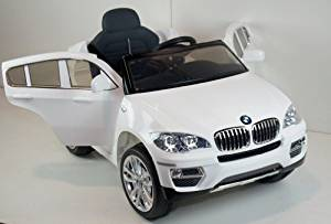 New 2015 Licensed BMW X6 12v Kids Ride on Power Wheels Battery Remote Control Toy Car- White + Gift Mp3 Player