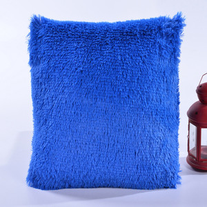 Manufacture Customized plush cushion pillow, Bedrest, Faux Fur plush cushion pillow