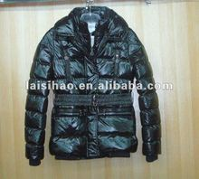 2012 new design mid-long style unisex down jacket
