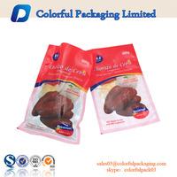 Breakfast food PA nylon vacuum bag three side sealed plastic packaging bags