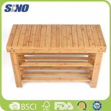 Bamboo 3 Layer Wooden Shower Bench