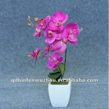 Artificial Natural Blue Orchid Flowers Stemsartificial Potted