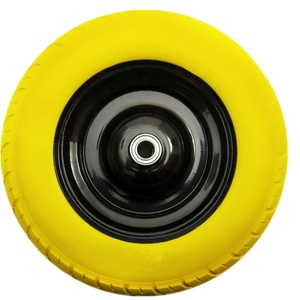 Flat free wheelbarrow tire 3.50-8 pu foam wheels