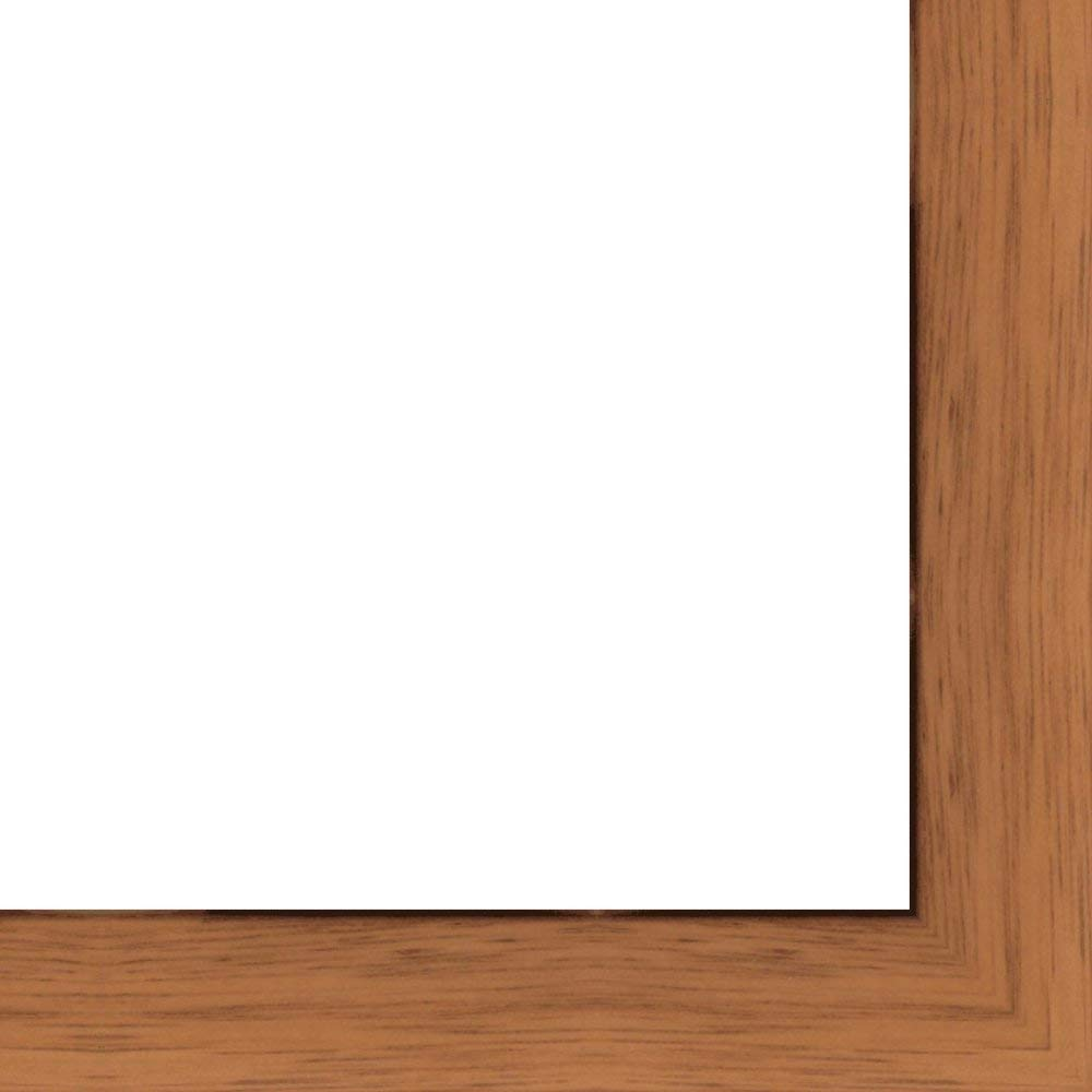 24x36 - 24 x 36 Honey Pecan Flat Solid Wood Frame with UV Framer's Acrylic & Foam Board Backing - Great For a Photo, Poster, Painting, Document, or Mirror