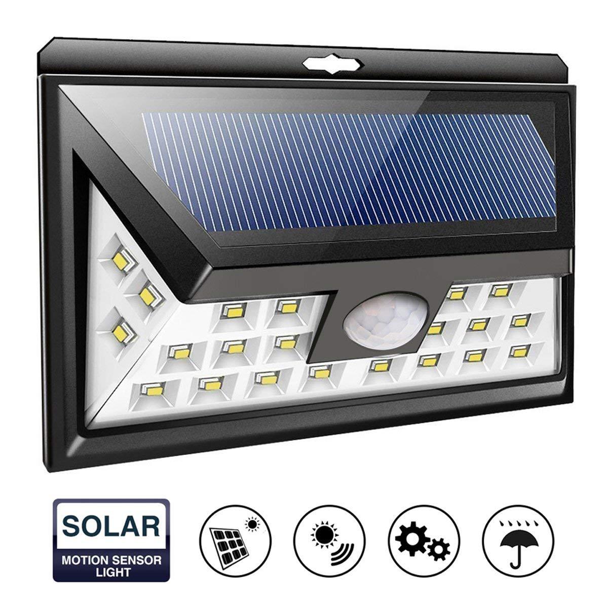 Solar Outdoor Lights 24 Led Solar Light Energy Super Bright Security Motion Sensor Wall Lamp Waterproof IP65 Yard Light