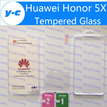 Tempered Glass For Huawei Honor 5X 100% Original Good Quality Temperli Protector Screen Film For Huawei Honor 5X 5.5inch