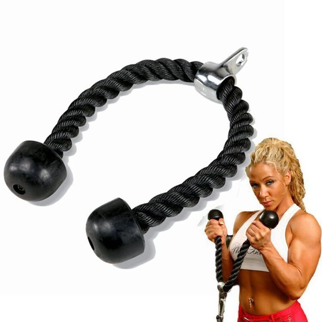 Body Building Pull Down Pull Rope Tricep Rope Crunches Abdominal O3Y2
