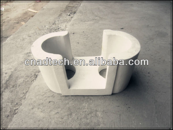 High purity heat insulation of ceramics distribution plate used in aluminum alloy casting