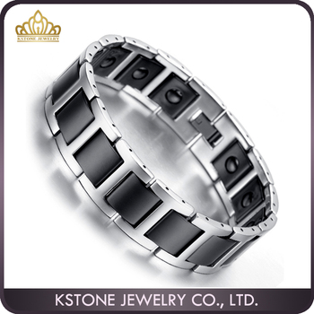 Kstone Fashionable And Beautiful Tungsten Bracelets Anti Static Magnetic Bracelet For Men