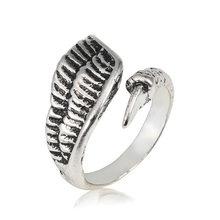 Креативные кольца с кошачьими когтями, дельфинами, кольца с кроликами для женщин, мужские персональные кольца в стиле панк, дракон, змея, лис...(Китай)
