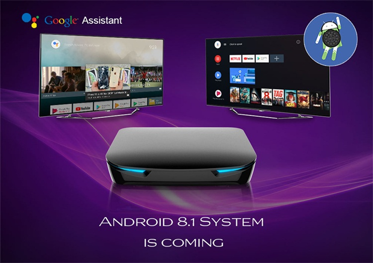 New Design G12 Amlogic S905X2 4GB 32GB HD2.1 4K KD18.0 set top box software update custom android tv box