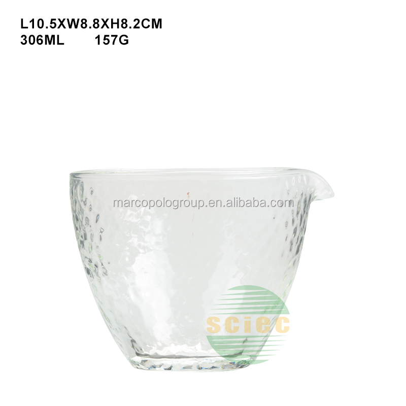 small clear bevel glass bowl