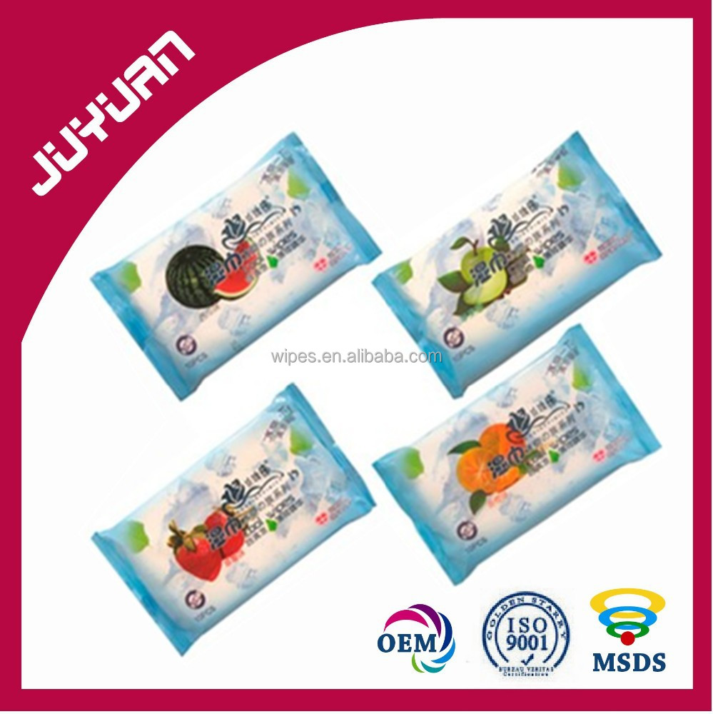 all kinds of fragrance tissue or OEM fruit cleaning wet wipes