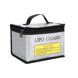 Double Zipper Anti-Explosion Small Size Fireproof Lipo Battery Safe Guard Bag
