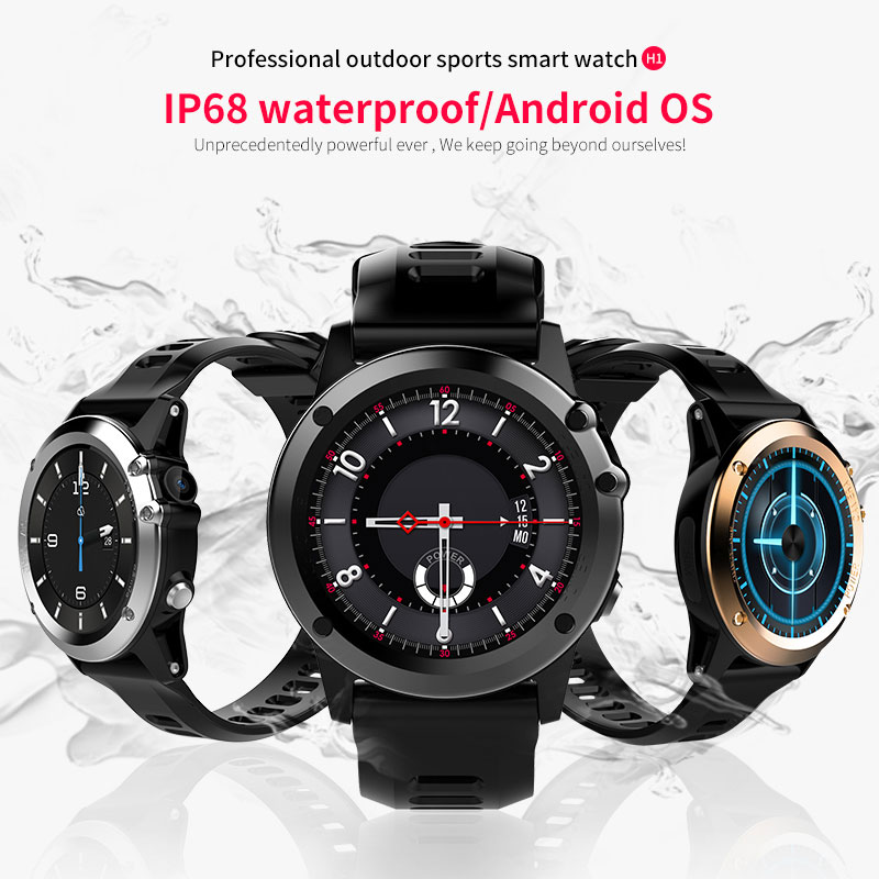 2018 new product 3G SIM card GPS Camera IP68 Waterproof WiFi Android Smart Watch Phone H1