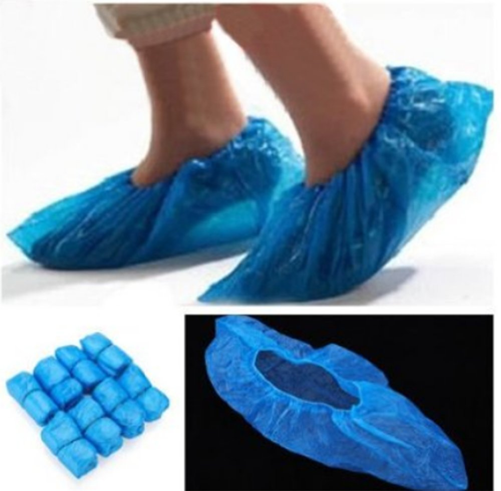 NEWSKY Wholesale 200Pcs//100Pair Disposable Plastic Shoe Covers Carpet Overshoe