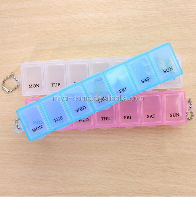 New design  medical box for 7 days / 7 Compartment Plastic Medicine Pill Organizer / 1 Week Pill Box