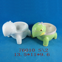 Popular tortoise shaped ceramic cute flower pot for home decoration