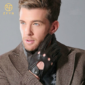Customized Classic men horse/bike leather riding gloves
