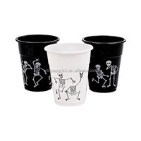 Halloween Skeleton Printed Disposable Paper Cups Pack of 50
