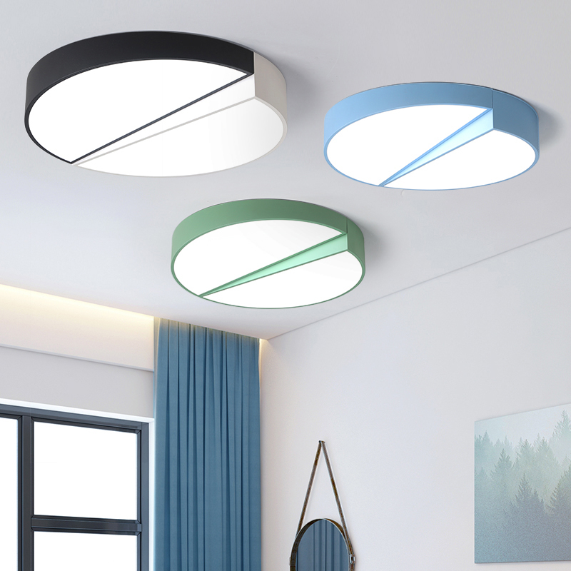 2019 New Style Multicolor Ultra-thin Led Round Ceiling Light Modern Panel Lamp Lighting Fixture Living Room Bedroom Kitchen Ceiling Lights Ceiling Lights & Fans Remote Contro