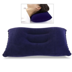 Woqi Super-thick Flocking Fabric Inflatable Pillow Portable Travel Pillow