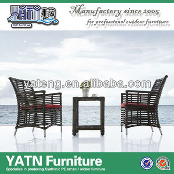 Aluminum Patio Furniture Outdoor Ratan Chairs With Tea Table