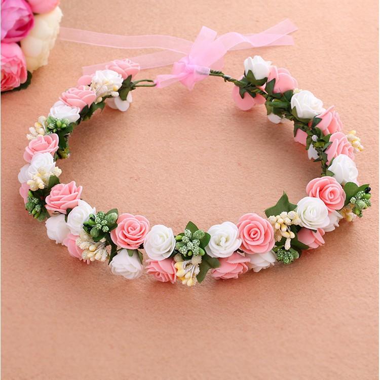 2015 summer style fashion flower girls hair accessories wreath crown for  wedding tiara headwear head kids children rose hh5007 ec5270c0110