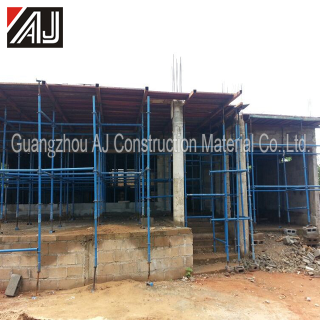 Reusable steel falsework formwork for house building