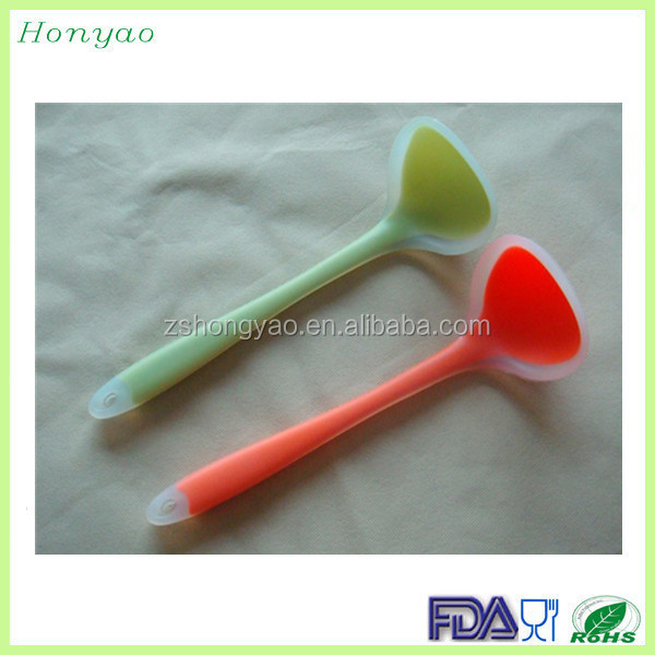 hot new products for 2015 big silicone soup spoon, korean soup spoon