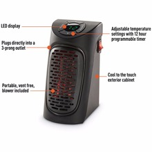 Wall Mounted Infrared Mini Handy Heater AS SEEN ON TV With EU Plug