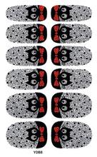 Y5088 Beaufiful Cute Black Cat Nail Polish Sticker Self Adhesive Nail Art Stickers Nail Foil Wrap