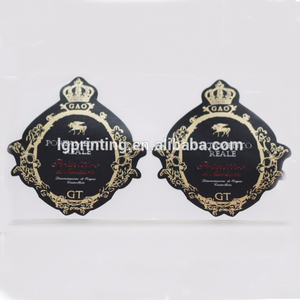 High Quality Craftsmanship Gold And Black Beer Or Red Wind Soft Drinks Private Sticker Paper Label