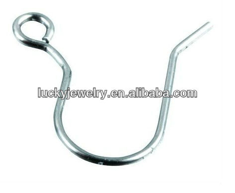 Beautiful Silver color Ear Wire Earring Hooks for Jewelry Making Finding for Bulk Wholesale