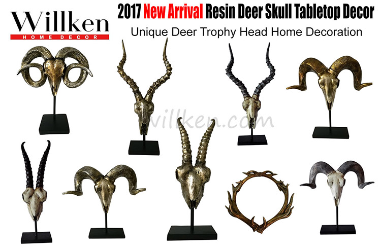Wholesale Polyresin decorative wall hanging Antelope skull