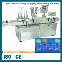 Pharmaceutical injection vial filling machine, automatic vial filling plugging and sealing machine for 7-100ml aseptic vial