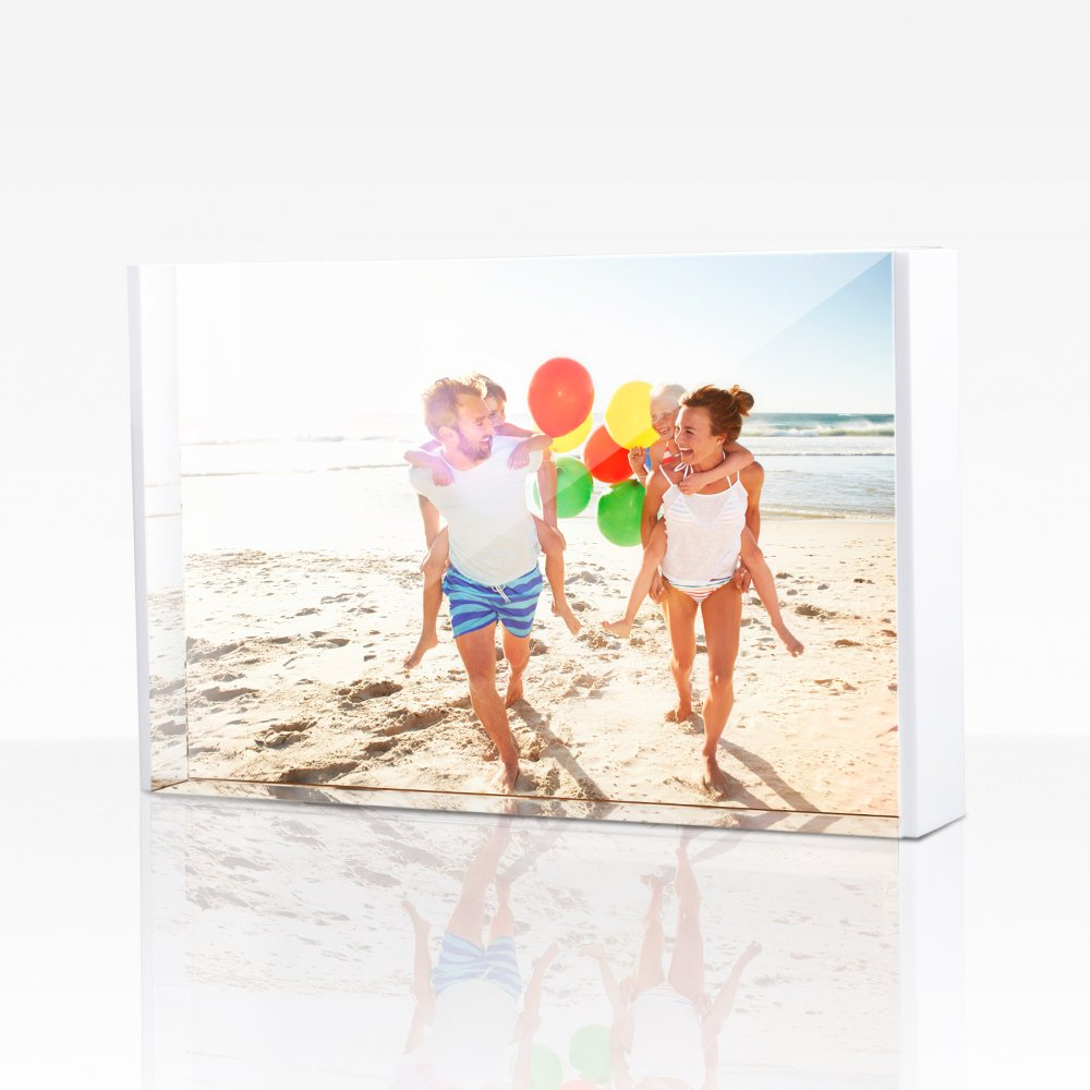 TWING Acrylic Deluxe Acrylic White Photo Frame 5X7 inch