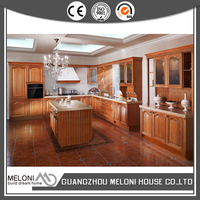 classic design solid wood kitchen cabinet oak wood door