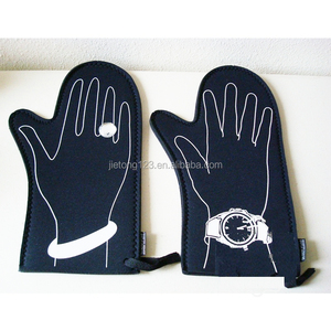 Creative Hand Gloves Pattern Man Woman Silicone Oven Mitt